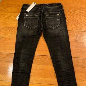 Rock Revival Moto Skinny jeans black size 28 NWT